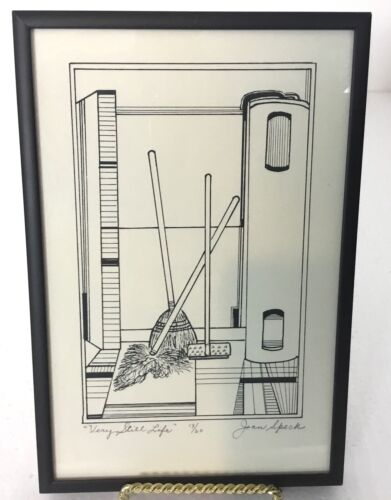 Very Still Life by Jean Speck Signed Limited Edition 13/20 Art Drawing Home