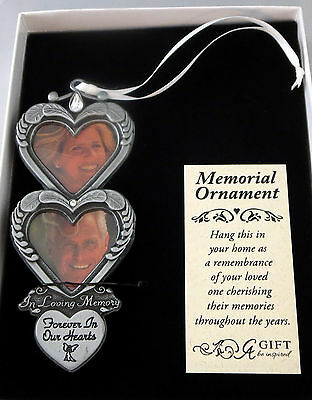 In Loving Memory Ornaments (Hearts In Loving Memory Photo Ornament Forever In Our Hearts Memorial Christmas)