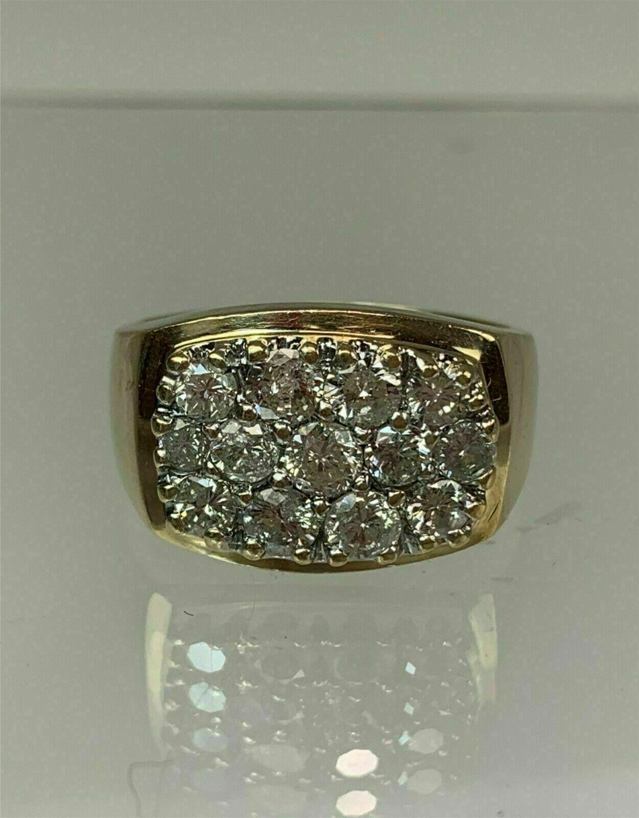1.50 Ct Round Cut Diamond Gent's Men's Wedding Band Ring 14k Yellow Gold Over 1