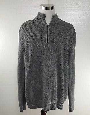 Calvin Klein Mens Size XXL Blue 1/2 Zipper Long Sleeve Sweater Pullover Cotton