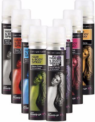 Coloured Body Spray Neon UV Paint Festival Halloween Party Fancy Dress - Halloween Body Paint Spray