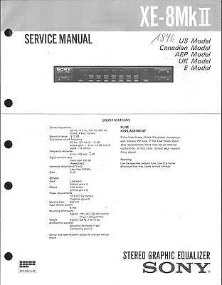 Sony Original Service Manual  für XE-8 MKII