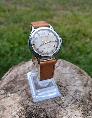 Bulova Automatic Watch, 10 BRC, L1, Leather Bands, Keeping Time