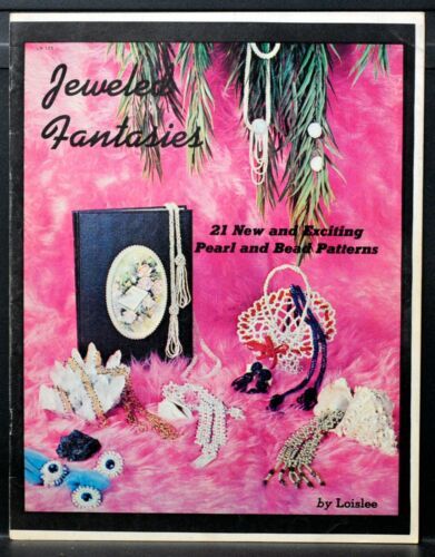 JEWELED FANTASIES Jewelry Instruction Book • 1971 • 21 Pearl & Bead Patterns