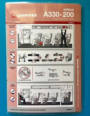 QANTAS AIRWAYS SAFETY CARD--AIRBUS 330-200
