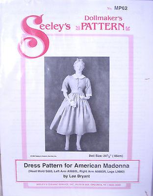"Seeley's Dollmaker's Pattern MP62 DRESS PATTERN - AMERICAN MADONNA - 24.5"" Doll"
