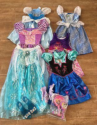 3 - 6 Disney Girls Frozen Princess costume Lot Rapunzel Anna Elsa Cinderella