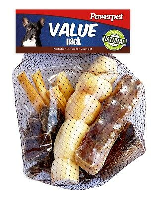 Value Pack - Natural Dog Chews-Smoked Beef Bone - Beef Jerky Bites, Trachea, Che
