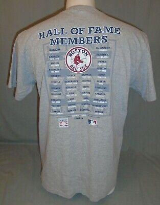 Boston Red Sox Hall of Fame Members HOF MLB Baseball Gray T-Shirt Size Large
