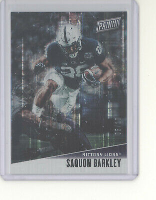 Saquon Barkley card /10 2019 Panini Father's Day escher square Giants Penn (Penn Square 10)