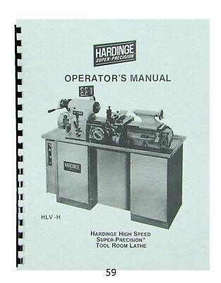Hardinge Hlv-h Super Precision Lathe Operators Manual 59