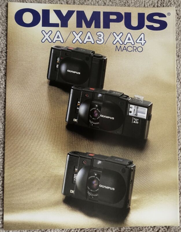 Very Rare Olympus XA XA3 & XA4 German Camera Sales Brochure  Low Postage !