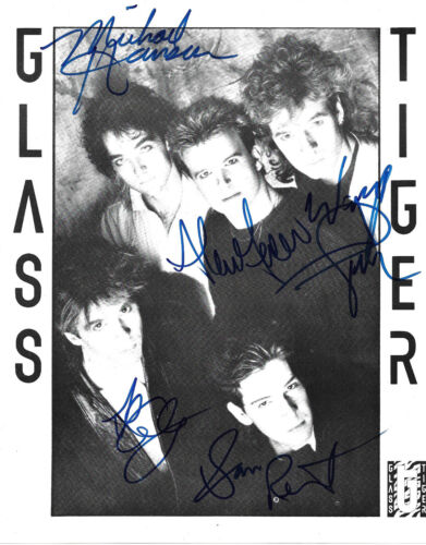 Glass Tiger full signed 8x10 inch photo autographs