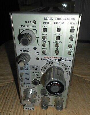 Tektronix 7b53n Mixed Sweep Dual Time Base 100 Mhz Plug-in