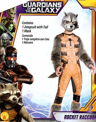 Guardians of the Galaxy Rocket Raccoon Costume Boys Small 6 Medium 8 Large 10/12 - Rocket Costume