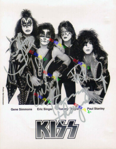 KISS BAND  8x10 Autographed Signed Photo Reprint