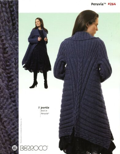 Berroco Peruvia Knitting Pattern Book #264 -8 Designs Women (1 by Norah Gaughan)