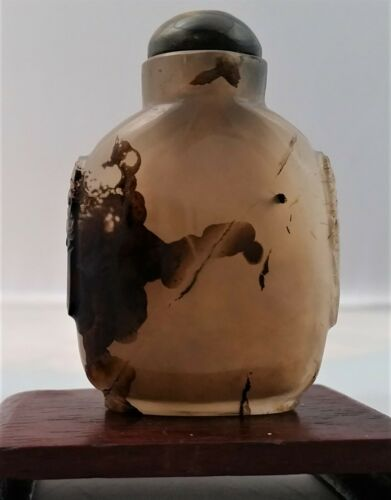 Fine Antique Chinese  Agate Snuff Bottle  Ching Dynasty Translucent, Natural