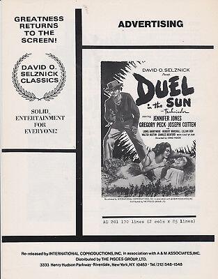 DUEL IN THE SUN 1960S REISSUE PRESSBOOK GREGORY PECK JENNIFER JONES