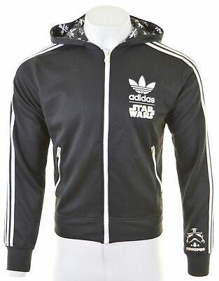ADIDAS Mens Star Wars Hoodie Sweater Medium Black Polyester