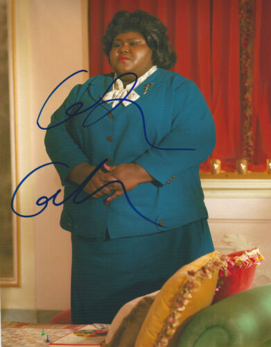 GABOUREY SIDIBE SIGNED AUTHENTIC AMERICAN HORROR STORY 8x10 PHOTO w/COA ACTRESS