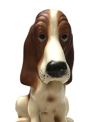 Vintage Breyer Basset Hound Dog Brown And White Plastic Figurine