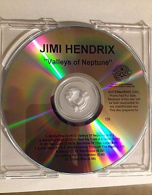Jimi Hendrix Valleys of Neptune Advance Promo Numbered Watermarked Disc