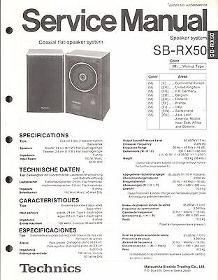 Technics Service Manual für SB-RX 50