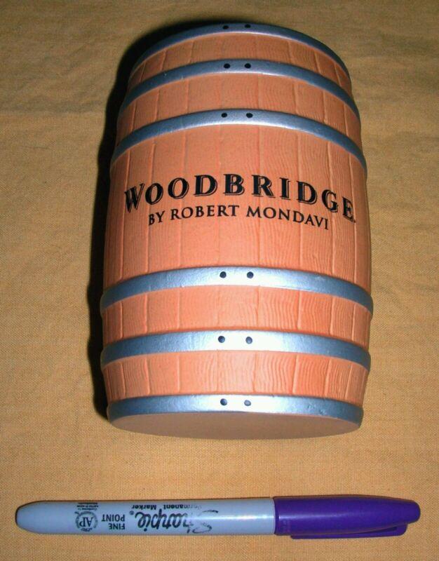 VERY RARE NEW - WOODBRIDGE THIN WALL CERAMIC WINE BARREL POT BY ROBERT MONDAVI