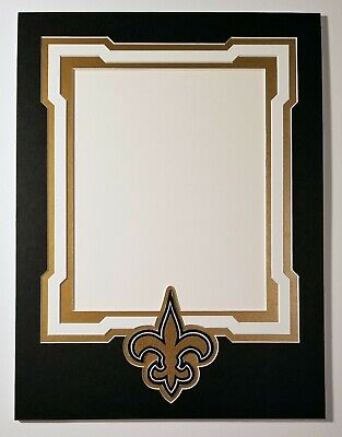 (New Orleans Saints 12x16 mat for 8x10 Photo Drew Brees Alvin Kamara   Thomas)