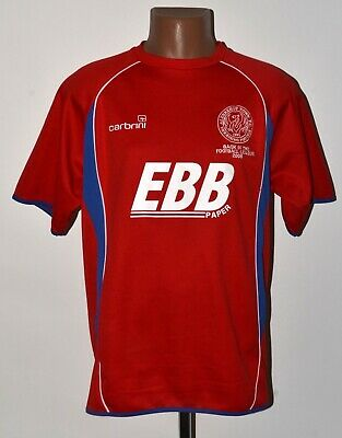 ALDERSHOT TOWN ENGLAND 2008 HOME SPECIAL FOOTBALL SHIRT JERSEY CARBRINI SIZE L image