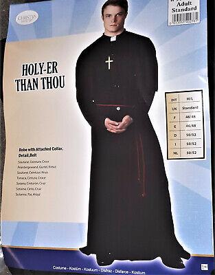 Herren  Kostüm Priester Pater Prediger Kirche Kreuz  Karneval Fasching M/L