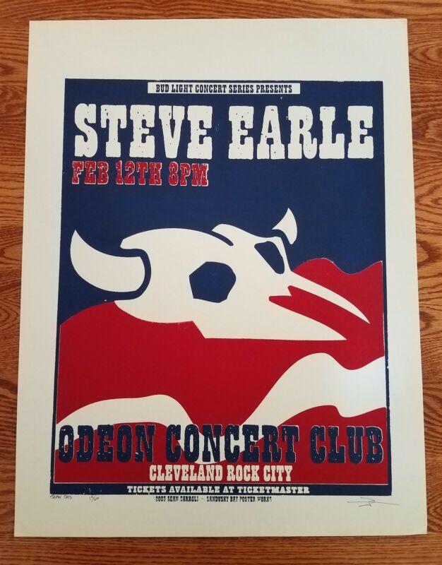 Steve Earle Poster Concert Cleveland S/N Feb 12