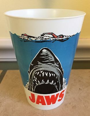 Rare 1975 Vintage Jaws Movie Promo Soda Cup 7 Eleven