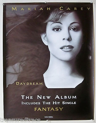 1998 Mariah Carey Fantasy Columbia Promo Poster  22 x 29 inches NOS   LAST ONE!