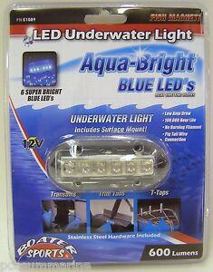 Boater-Sports-Marine-Underwater-Aqua-Bright-LED-Light-12V-600-Lumen-Blue-51089