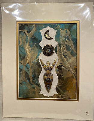 Stacey Shawntee Arcangel ~  THE GODDESS ~ Original Clay Collage Art, Signed