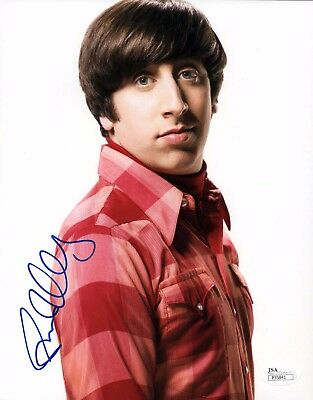 Simon Helberg Signed 8X10 Photo   Autograph Jsa Coa Big Bang Theory Howard