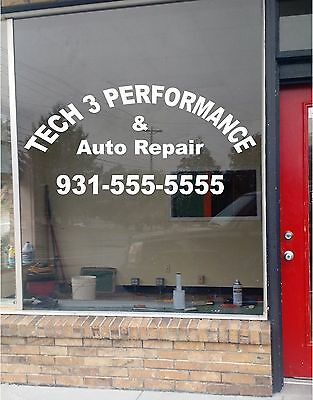 Your Custom Lettering Arched Business Sign Vinyl Sticker Sign Window 28x60