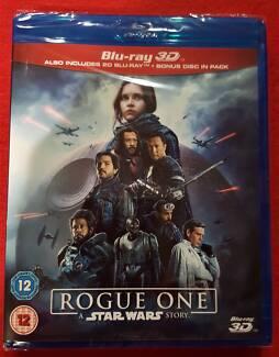 Star Wars Rogue One blu-ray 3D/2D/bonus DVD