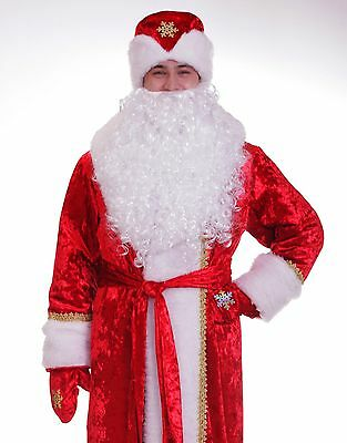 TOP-QUALITY Father Frost suit costume M L XL XXL XXXL Ded Moroz Santa Claus Xmas