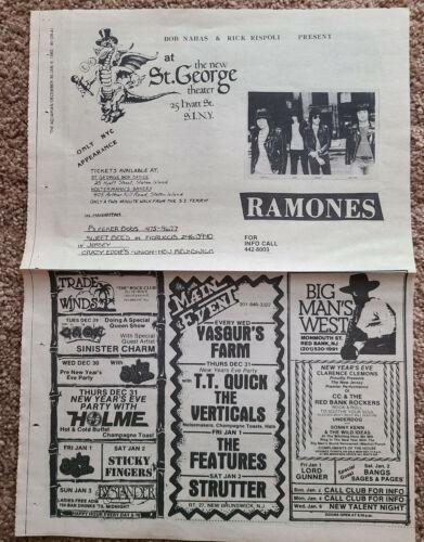 RAMONES concert flyer The Aquarian Newspaper Jan 1982 Original