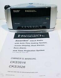 Emerson Research CKS3528 Dual Alarm Clock AM/FM Radio Smart Set Time Projector