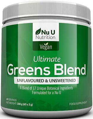 Super Greens Powder 17 Superfoods Powder 300g 60 Servings Vitamin & Minerals