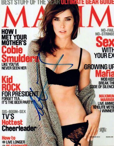 Cobie Smulders Signed Autograph 8x10 Photo Captain America MAXIM Sexy COA VD