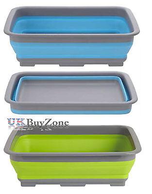 Foldable Collapsible Washing Up Bowl Dishwashing Camping Travel Caravan Kitchen