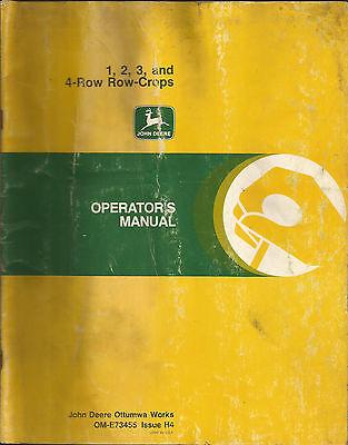 JOHN DEERE 1, 2, 3, AND 4-ROW CROPS OPERATORS MANUAL