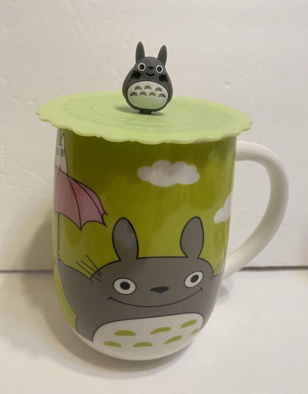 My Neighbor Totoro 20 Oz (590ml) tea cup Mug With Suction Lid NIB