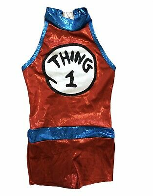 Thing 1 Costume Wish Come True MC 8-10 Kids Girls Competition Halloween Dr Seuss