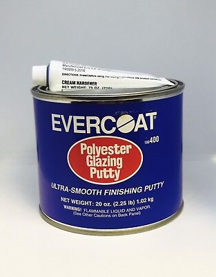 EVERCOAT 400 ULTRA SMOOTH POLYESTER GLAZING PUTTY  (20 oz QUART)- FIB-400